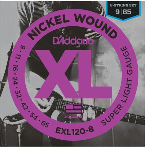 D'Addario EXL120-8 Nickel Wound 8-String Super Light 09-65