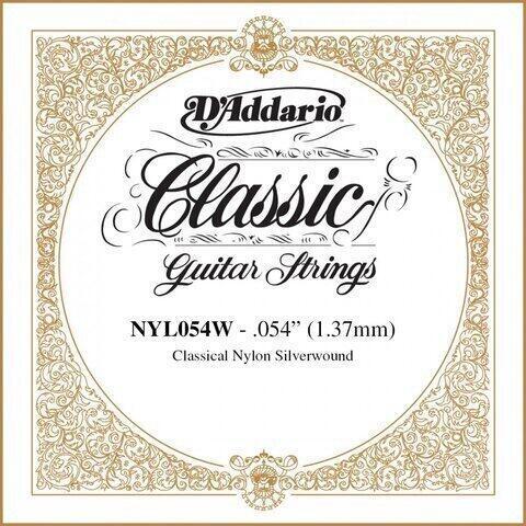D'Addario NYL054W Single Silver Wound 054