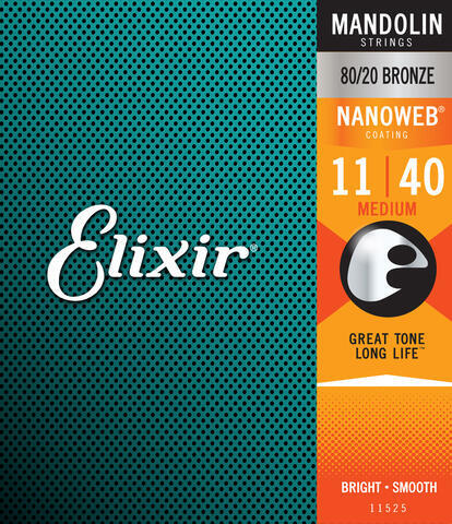 Elixir 11525 Mandolin 80/20 Bronze Medium