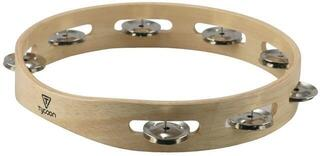 Tycoon Single Row Wooden Tambourine With Steel Jingles