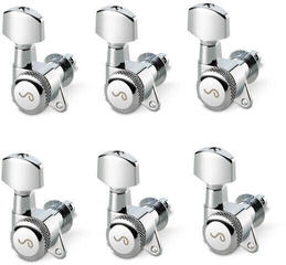 Schaller M6 135 Left locking 19,5 Nickel 6 pack