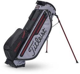 Titleist Players 4 Plus StaDry Black/Sleet/Dark Red Stand Bag