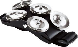 Meinl CFT5-BK Cajon Foot Tambourine, Black