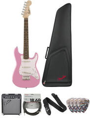Fender Squier Mini Strat V2 IL Pink Deluxe SET
