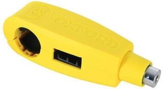 Oxford Clamp-On Brake Lever Clamp Yellow