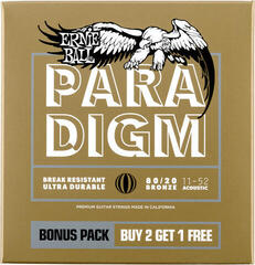 Ernie Ball Light 80/20 Bronze Paradigm 3 Pack
