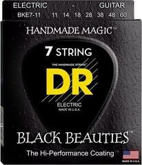 DR Strings BKE7-11 K3 Black Beautie Med-Heavy