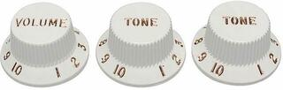 Fender Stratocaster Knobs White (Volume, Tone, Tone)