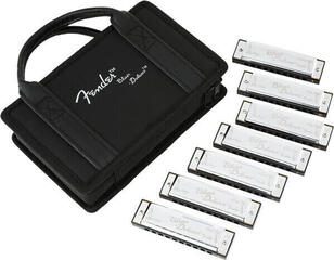 Fender Blues Deluxe Harmonicas 7-Pack with Case