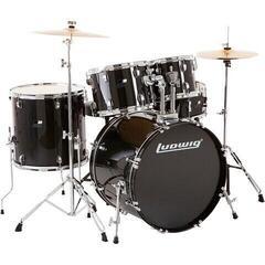 PP World 5 Piece Drum Kit Black